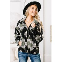 Going Beyond Button Down Printed Sherpa
