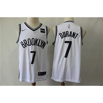 2019-2020 Brooklyn Nets 7 Kevin Durant White Basketball Jersey
