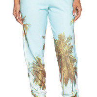 All Things Fabulous Palm Sweatpant in Turquoise
