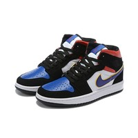 Air Jordan 1 Mid SE What The Field Purple White-Gym Red - Best Deal Online
