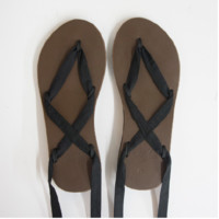 Sseko Ribbon Sandal - Brown Base
