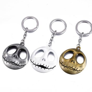 The Nightmare Before Christmas Key Chain Jack Skellington Alloy Metal Key Rings For Women&Men Chaveiro can Drop-shipping