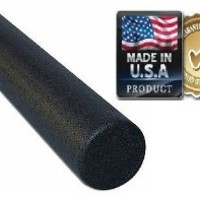 """HealthyLifeStyle Foam Roller, Black High Density Foam Roller, Elite Extra Firm, 6"""" x 36"""" Round,  Manufactured in the U.S.A."""