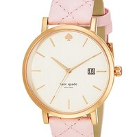 kate spade new york 'metro grand' quilted strap watch, 38mm