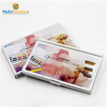 Simbalion Solid 12/18 Watercolor Paints Cakes