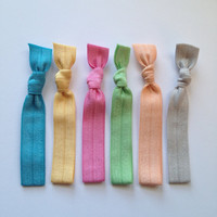 Pastel Collection Elastic Hair Tie -  Ponytail Holder - by Elastic Hair Bandz