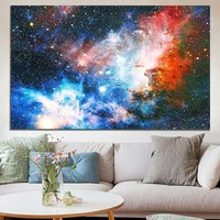 Unframed 43x24 inch Space Galaxy Universe Planet Poster Fabric Silk Painting Wall Print Art Home Decor