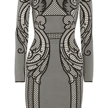 Temperley London - Lavinia intarsia stretch-knit dress