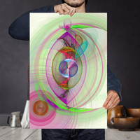 Vibrant Energy Wave Art Print - Color Therapy - Bohemian Wall Art, Digital Download | Psychedelic Apartment Wall Decor