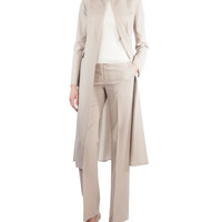Akris Long Stretch-Wool Coat and Matching Items