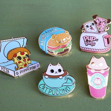 Too Cute To Eat Hard Enamel Pin Collection - Series 1