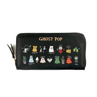 Women Cartoon Cute PU Wallet Print Wristlet Wallet Dinner Bag