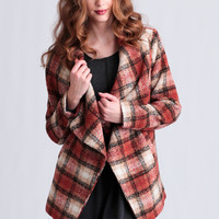 Lakewood Pass Plaid Coat