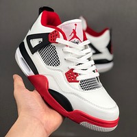 "Air Jordan 4 Retro ""Fire Red"" Sneaker - Best Deal Online"