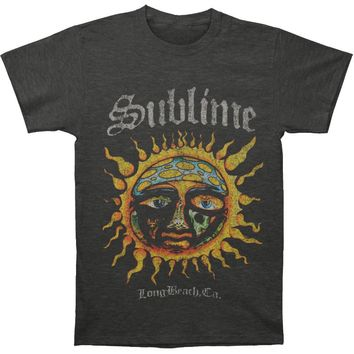 Sublime Men's  Logo Stamp Sun Mens Soft T Slim Fit T-shirt Heather Charcoal