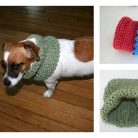 Pets Lover Doggie Puppy Pets Fashion Clothing  Infinity  Scarf Small Animal Soft Cotton Scarf - By PIYOYO
