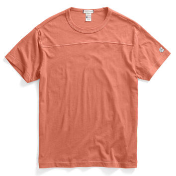 Football T-Shirt in Coral