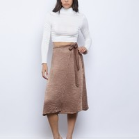 Wrap Around Midi Skirt