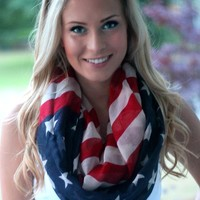 'Merica Infinity Scarf: Red, White & Blue