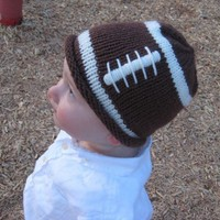 Baby Hat PATTERN Football Hat for a Little Fan by UpNorthKnits