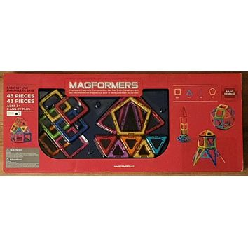 Magformers Magnetic Construction Set, 43-pieces