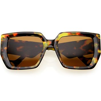 Oversized High Fashion Thick Rimmed Square Sunglasses D235