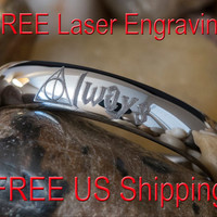 Tungsten Ring 4mm Dome HP Always Lasered Design-Free Inside Engraving