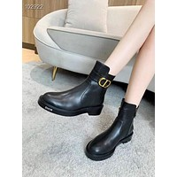 Christian Dior  women's Leather boots Fashionable Leisure Boots Shoes 08266