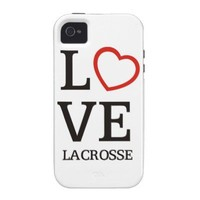 Big LOVE Lacrosse Vibe iPhone 4 Covers from Zazzle.com