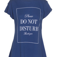 WILDFOX  Do Not Disturb Desert Crew Neck City Night Baumwoll-T-Shirt mit Print  - What's new