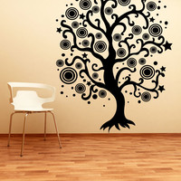 Vinyl Wall Decal Sticker Abstract Star Tree #1290