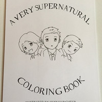Printable Supernatural Hand-Illustrated Coloring Pages Digital Download