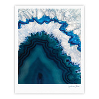 "KESS Original ""Blue Geode"" Nature Photography Fine Art Gallery Print"