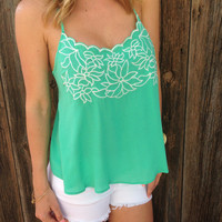 Flirty Floral Embroidered Top