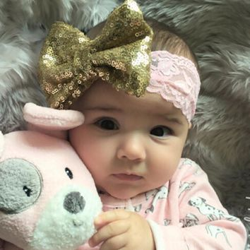 2017 NEW Chic Bow with Lace Headband Big Bow
