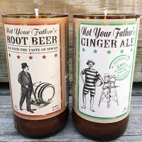 Not Your Fathers Root Beer Ginger Ale Set Soy Candles Gift Set Man Beer Lover Craft Beer