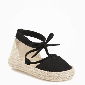 Sueded Lace-Up Espadrilles for Baby | Old Navy