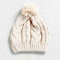 Basic Cable Pom Beanie-