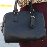 Halfway Out The Door Purse: Black - One