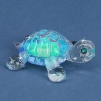 Glass Baron Blue Turtle Figurine