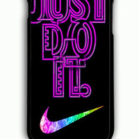 iPhone 6 Plus Case - Rubber (TPU) Cover with Nike Just do it design Rubber Case Design