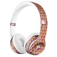 Micro Golden Triangles Over Pink Fumes Full-Body Skin Kit for the Beats by Dre Solo 3 Wireless Headphones