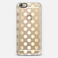Faux Gold Polka Dots - Transparent iPhone 6 case by Perrin Le Feuvre   Casetify