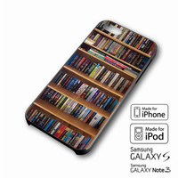 book library iPhone case 4/4s, 5S, 5C, 6, 6 +, Samsung Galaxy case S3, S4, S5, Galaxy Note Case 2,3,4, iPod Touch case 4th, 5th, HTC One Case M7/M8