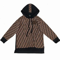 Fendi Women Fashion Casual Knitwear Top Sweater Pullover Hoodie