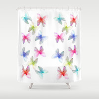Colorful flowering butterflies. Floral photo art. Shower Curtain by NatureMatters