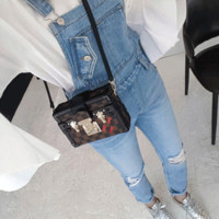 Distressed Denim Overalls - Miamasvin loves u! Womens Clothing. Korean Fashion.