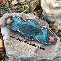 Turquoise Feather Bronc Noseband/Halter