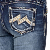 Miss Me Denim Brand Cutout Frame M Boot Cut Jeans