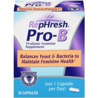 RepHresh Pro-B Probiotic Feminine Supplement, 30 Count